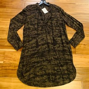 NWT H&M PATTERNED LONG SLEEVE TUNIC DRESS TOP